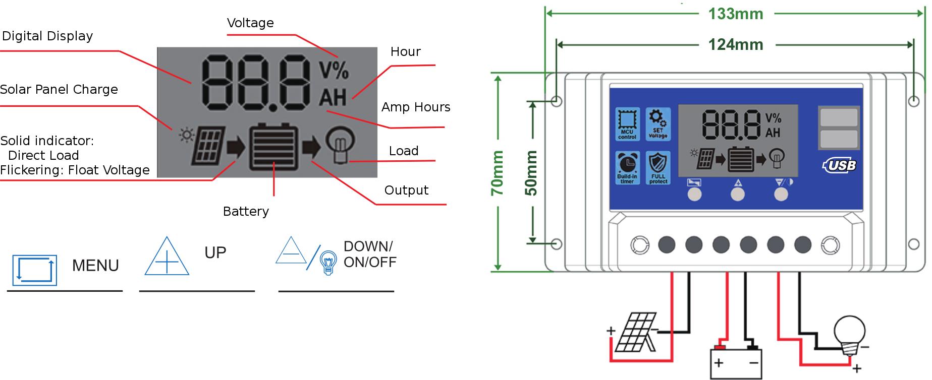 controller & lcd diagram