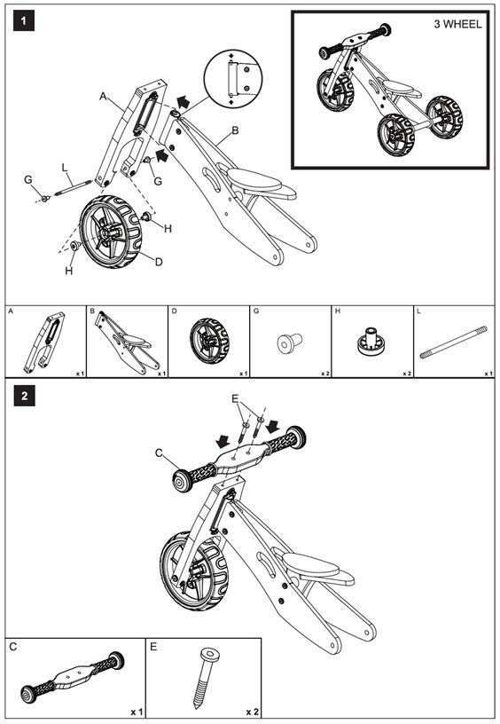 Kogan 2 In 1 Trike Amp Balance Bike Katkblbkbma Manual